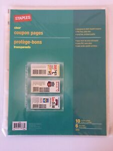 Staples Clear Coupon 10 Pages 6 Pocket Sheets 3 Ring Organizer Binder 22093