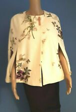 TED BAKER ZEPHIR  FLORAL BIRDS CASHMERE CAPE BNWT UK 12 TED 3 USA 8 RRP £235.00