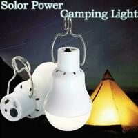 Solar Panel Power LED Bulb 20W Light Portable Outdoor Tent Camping Energy L T3G8