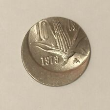 1979 Mexico 10 Centavos struck 20% off center, mint error coin, NR