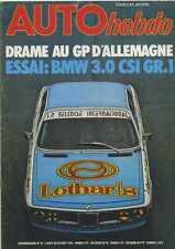 AUTO HEBDO n°25 du 15 AOÛT 1976 GP ALLEMAGNE F1 Accident de LAUDA