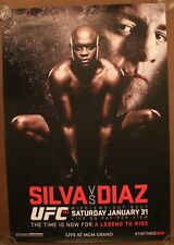Official UFC 183 Anderson Silva vs Nick Diaz Poster 27x39 (Near mint)