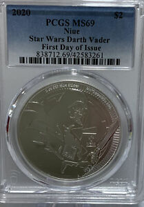2020 Niue Star Wars Darth Vader PCGS MS69 First Day Of Issue 42583261