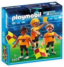Playmobil 6859 Football Officials Referee Linesmen Team Figures - Damaged Box