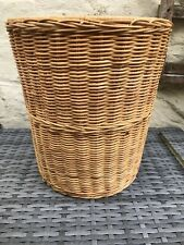 Beautiful Round Vintage Useful Wicker Basket