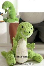 (183) Toy Knitting Pattern for T-Rex Dinosaur