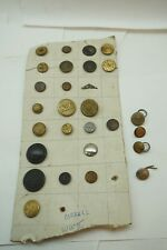 VINTAGE BRASS BUTTONS LOT COLLECTION OX HIDE TRAIN FLYING WING NBC HEAD LIGHT