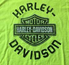 Harley Davidson Bar And Shield Safety Green Shirt Nwt Men's Medium