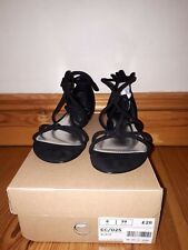 Brand New Next Black Tube Knot Tie Up Sandals - Size 6