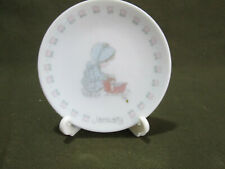 1989 Precious Moments January Month Collectors Plate w/ Plate Holder ~With Box