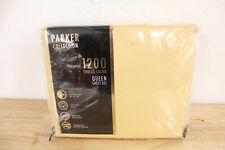 AQ Textiles QUEEN Sheet Set 1200 Thread Count Parker LIGHT Yellow D02068
