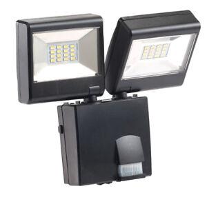 Double projecteur à LED avec détecteur de mouvement PIR - 230 V - Luminea