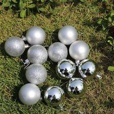 New Glitter Christmas Baubles Xmas Tree Ornament Hanging Ball Decor 3cm 24 pcs