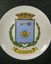 Antique Plate Ceramica de España Monique Made in Spain Cuba La Habana Emblem