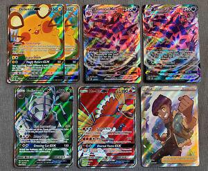 Pokemon Full Art Card Lot Ho-oh GX, Eternatus VMax, Hop...