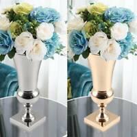 43cm Large Stunning Golden Iron Luxury Flower Vase Urn Wedding Table Home Decor