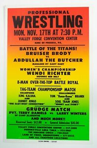 1986 Independent Wrestling Show Event Poster Bruiser Brody Abdullah Gary Hart