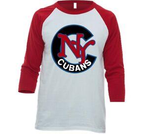 New York Cubans Negro League Baseball 3/4 Sleeve Raglan Tee Shirt With Logo