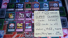 "Yu-Gi-Oh: ""LOT of 25 SUPER QUANTAL Cards"" -- Super Rare, Rare, Spell, Traps, XYZ"