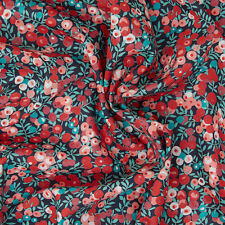 Liberty ~ Wiltshire Berry J Tana Lawn Fabric / quilting dressmaking orange red