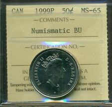 Test Token 1999P Canada 50 cent ICCS MS-65 NBU