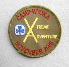 "Camp Wyoka Xtreme Adventure Patch - November 2008 - Girl Guides 3"" x 3"" Canada"
