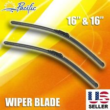 "Windshield Wiper Blades J-HOOK OEM QUALITY 16"" & 16"" INCH Bracketless"