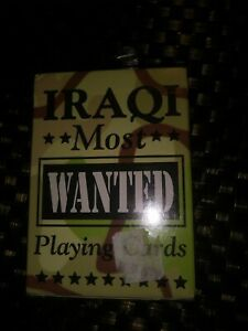 Iraqi MOST WANTED Playing Cards Military Iraq Suddam Factory Sealed