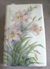 Collectible Vintage Limoges Porcelain Book Flask Decanter France Signed?