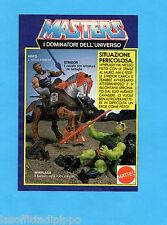 TOP985-PUBBLICITA'/ADVERTISING-1985- MATTEL MASTERS - FISTO+STRIDOR+WHIPLASH