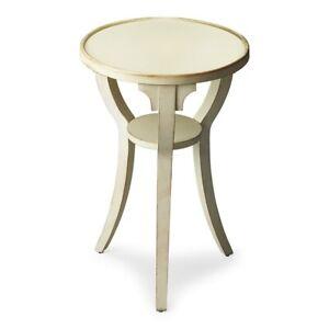 Butler Dalton Cottage White Round Accent Table, Cottage White - 1328222