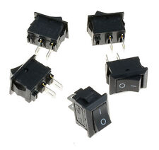Small Mini Black On/Off Rocker Switch Rectangle SPST 12V All Quantities