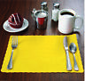 """1000 Raise® Yellow Paper Placemats, Scalloped Edge,10""""x14"""" place mats,Disposable"""