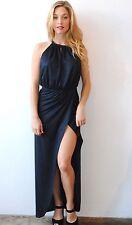 NWT Nightcap Vegan Suede Navy Blue Gown Maxi Dress Size 3