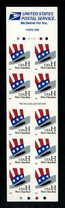"""SCOTT 3268a 1998 33 CENT UNCLE SAM'S HAT """"H"""" RATE CHANGE ISSUE BP OF 10 MNH VF"""