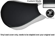 WHITE & BLACK VINYL CUSTOM FITS DUCATI STREETFIGHTER FRONT RIDER SEAT COVER ONLY