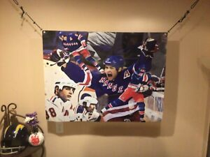 BIG! 43x33 ERIC LINDROS vinyl Banner POSTER Mark Messier New York Rangers Art.
