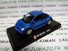 voiture 1/43 AUTOPLUS IXO : VW VOLKSWAGEN new beetle 1998 bleu