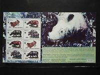 WWF Stamps Indonesia 1996 Javan Rhinoceros Sondaicus SS Overprint SEA GAMES MNH