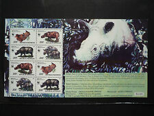 WWF Stamps Indonesia 1996 Javan Rhinoceros Sondaicus SS Overprint SEA GAMES MNH