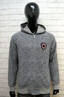 Felpa Uomo US POLO ASSN Taglia L Maglione Tuta Cardigan Sweatshirt Cotone Grigia