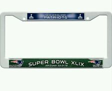 NEW ENGLAND PATRIOTS NFL SUPERBOWL CHROME AUTO TAG LICENSE PLATE FRAME