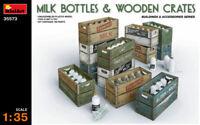 Milk Bottle & Wooden Cajones De Plástico Kit 1 :3 5 Modelo Miniart