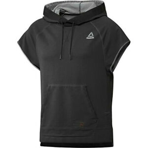 Reebok Herren Hoodie UFC Boxen Kampfsport Kapuzen Pullover Sweater Shirt schwarz