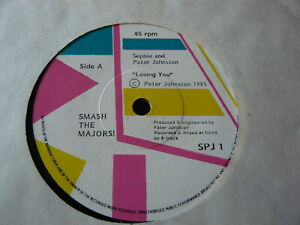 """SOPHIE & PETER JOHNSON..LOSING YOU..SYNTH POP ELECTRONIC 7"""" 45RPM..EX STOCK COPY"""