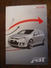 Abt Golf VI (5KO) Prospekt / Brochure / Depliant, D, ca. 2008 / 2009