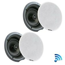 Pyle PDICBT87 Dual 8.0'' Bluetooth Ceiling/Wall 2 Flush Mount 2-Way Speakers Kit