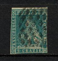 ✔️ (SKCB 110) Tuscany 1851 - 1855 USED Mich 5 Scott 5 Italy
