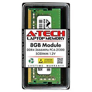 A-Tech 8GB DDR4 2666 PC4-21300 Laptop SODIMM 260-Pin Notebook Memory RAM 1x 8G