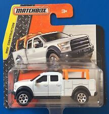 2015 Matchbox WHITE 2015 FORD F-150 CONTRACTORS TRUCK CONSTRUCTION VEHICLE!